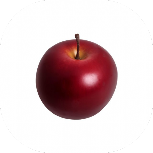 Artificial Red Apple x 2